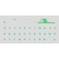 Наклейки на компьютерную клавиатуру - зеленые