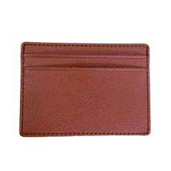 Кошелек тонкий коричневый - держатель карт - 5 отделений